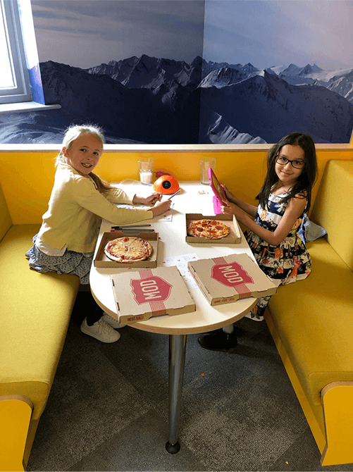 Children with Pizza